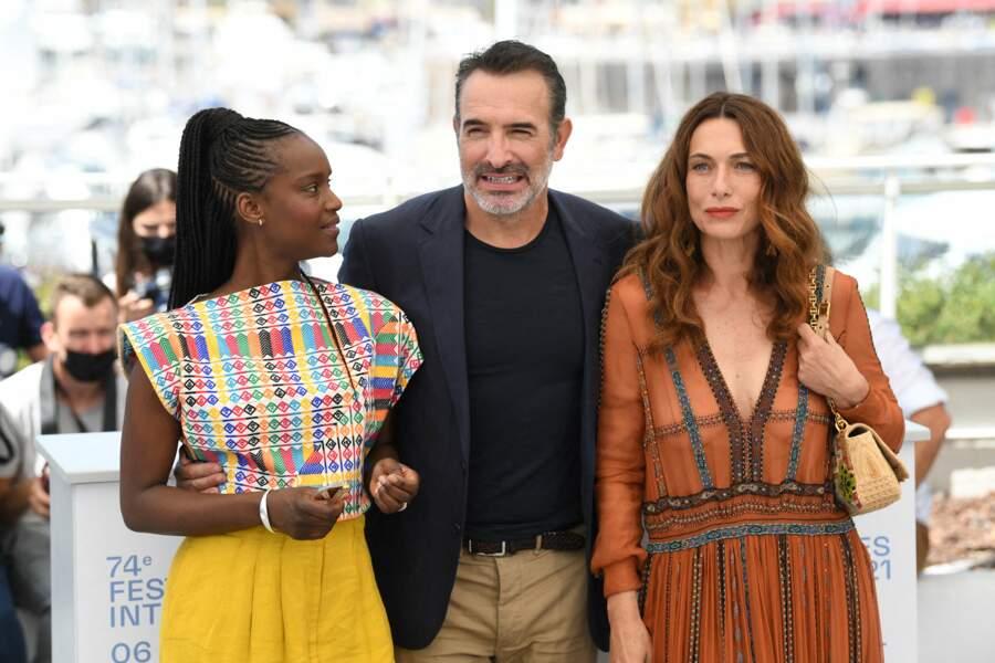 Jean Dujardin en charmante compagnie avec Fatou N'Diaye et Natacha Lindinger