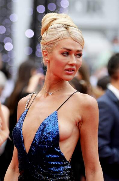 Angelina Kali a été victime d'un accident de robe ce vendredi 16 juillet à Cannes