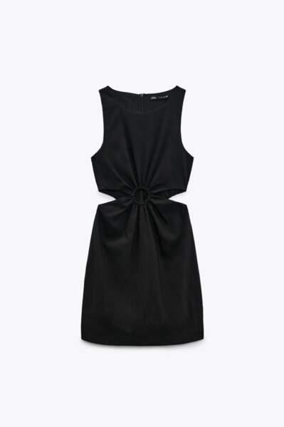 Robe cut out avec lin, Zara, 29,99€