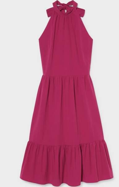 Robe dos nu en coton bio, C&A, 39,99€