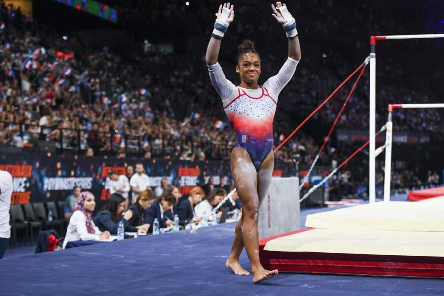 Mélanie de Jesus dos Santos en gymnastique