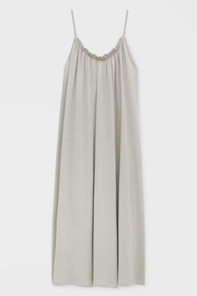 Robe longue bretelles tissu délavé, Pull&bear, 25,99€