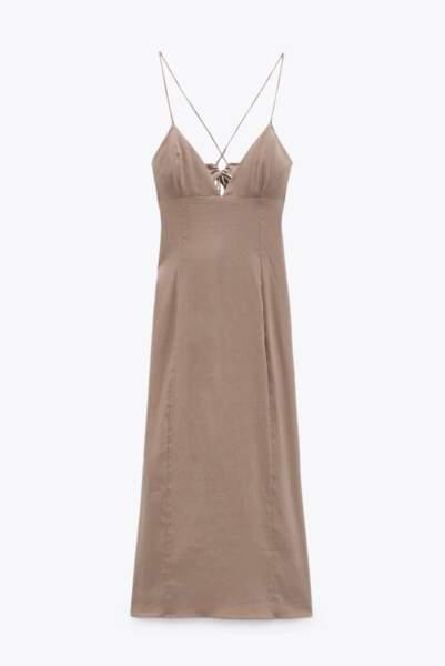 Robe avec lin, Zara, 39,95€