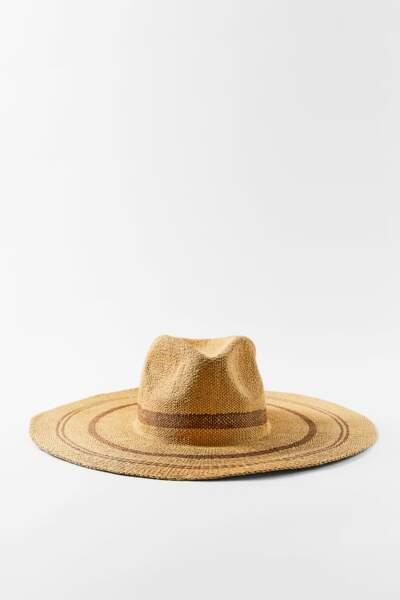 Chapeau tressé, Zara, 25,95€