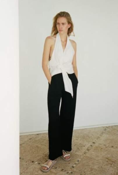 Top dos nu blanc, Zara, 39,95€