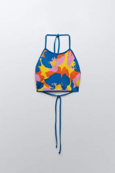 Top à motifs multicolore, Zara, 9,95 €.