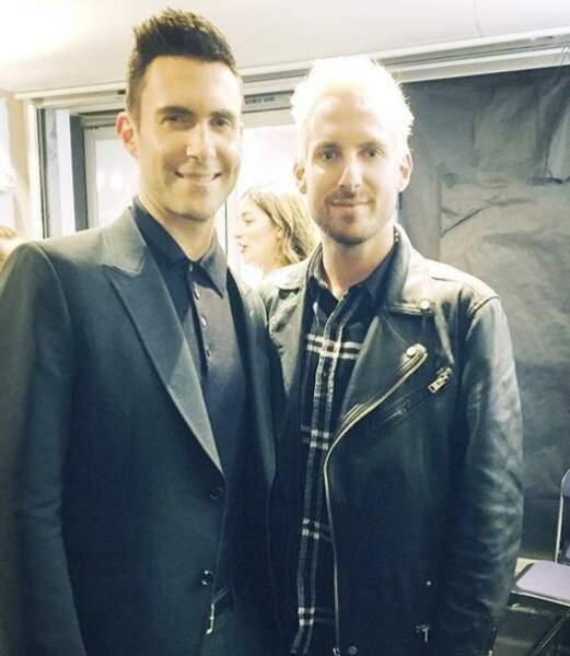 Adam Levine (Maroon 5) et Michael
