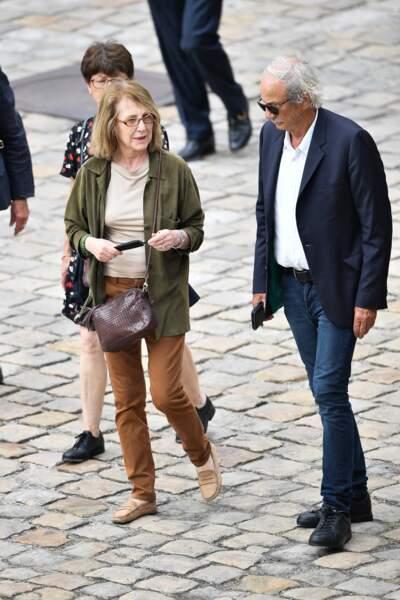 Nathalie Baye et Patrick Chesnais sont arrivés ensemble aux Invalides