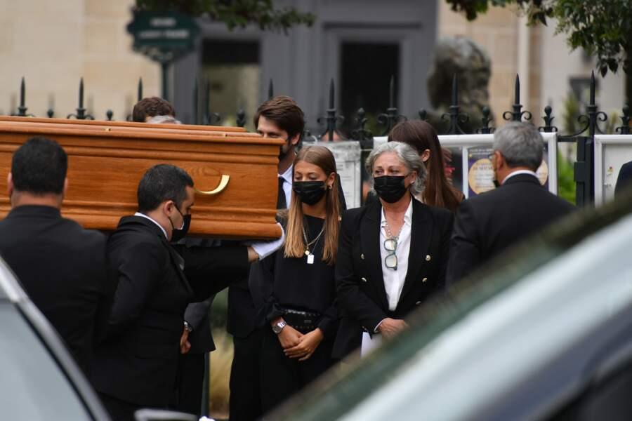 Obsèques de Jean-Paul Belmondo : Paul, Stella, Victor et Alessandro Belmondo