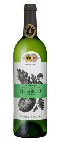 Côtes de Gascogne IGP, 3,49€, Elisabeth Prataviera chez Aldi.