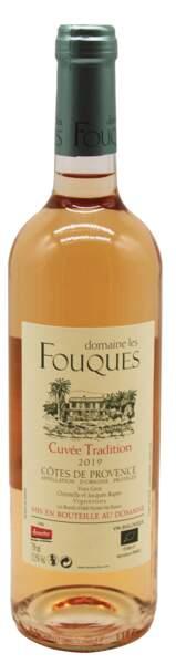 Côtes de Provence Cuvée Tradition 2019, 8,95€, domaine Les Fouques chez NaturéO.