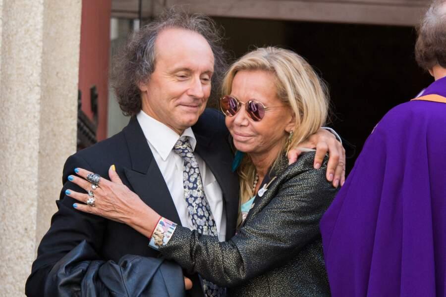Fiona Gélin avec le producteur et animateur Michel Forever