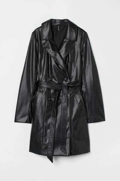 Trench-coat en simili cuir, H&M, 49,99€