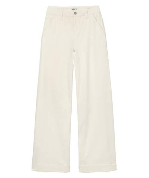 Gémo, pantalon large blanc,  29,99 €