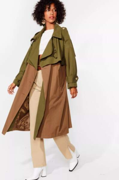 Trench oversize Somewhere Over-Size the Rainbow, NastyGal, actuellement à 64,50€
