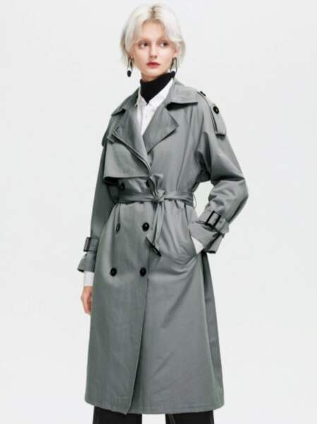 Trench gris anthracite, SHEIN, 62,99€