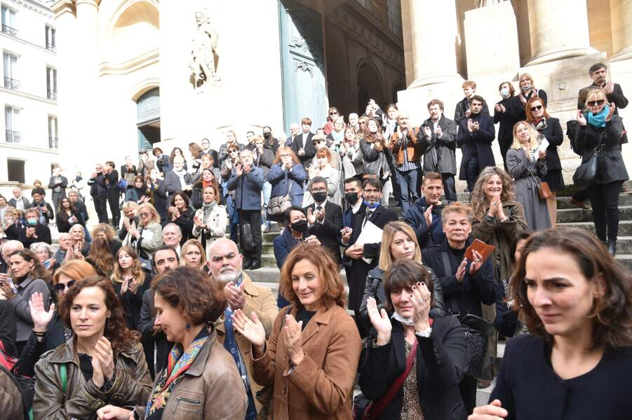 La foule aux obsèques de François Florent