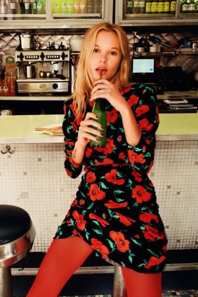 Mini robe fleurie, Zara, 39,95 €