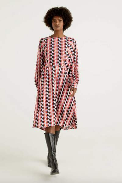 Robe motifs 70's, United Colors of Benetton, 89,95 €
