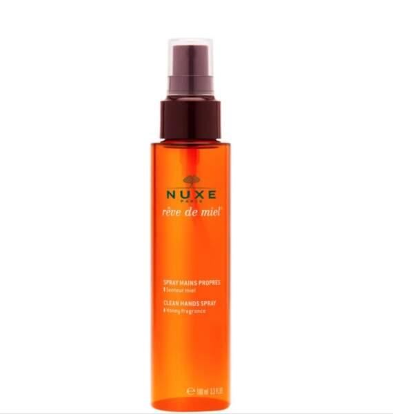 Spray mains propres rêve de miel, Nuxe, 9,90€ les 100ml