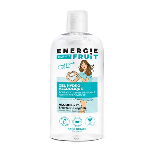 Gel hydroalcoolique, Energie Fruit, 4,40€les 300ml