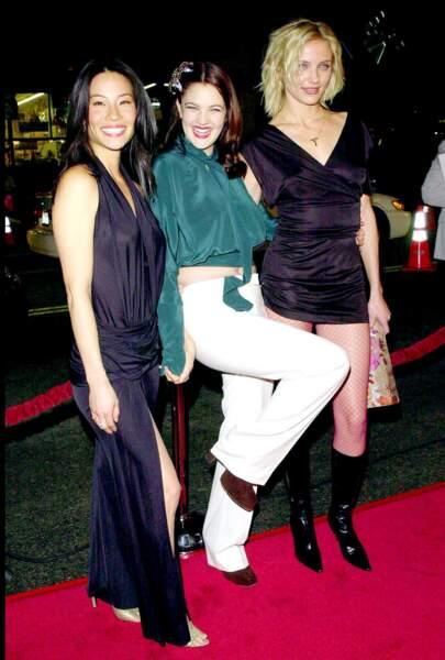 Lucy Liu, Drew Barrymore et Cameron Diaz en 2000