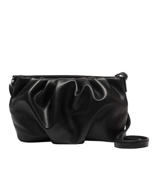 Sac froncé noir, Gémo x Lulu Castagnette, 17,99€