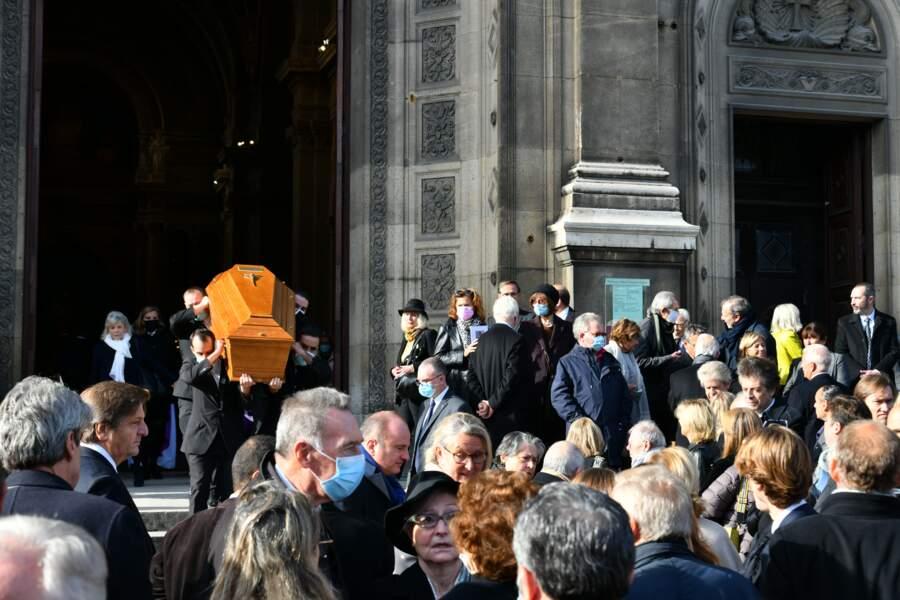 Obseques d'Etienne Mougeotte en l'Eglise Saint-François Xavier à Paris