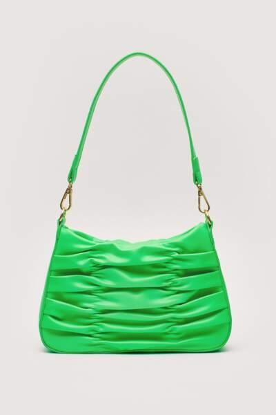 Sac froncé vert, Nasty Gal, 21,50€